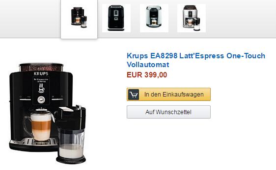 Kaffee-Vollautomaten von Krups