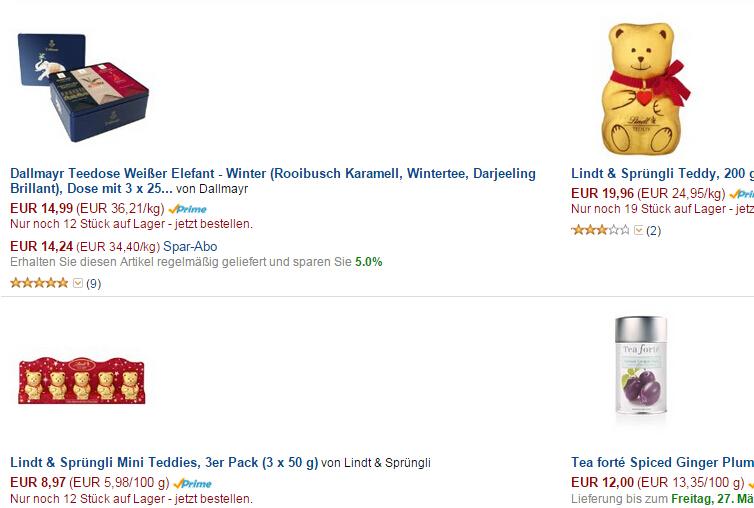Winterprodukte von Amazon