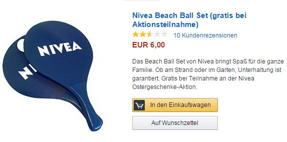 Nivea Frühlingsgeschenk ab einem Kauf von 9 EUR sichern!
