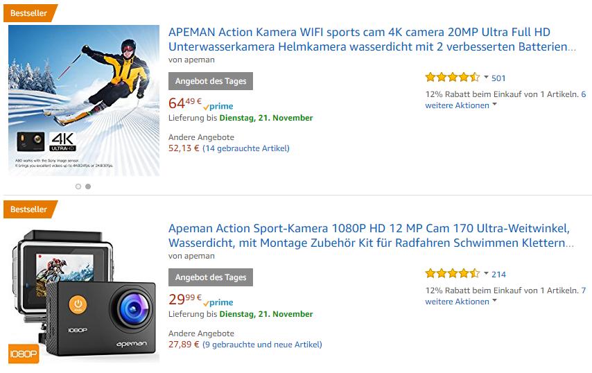 APEMAN Action Kamera