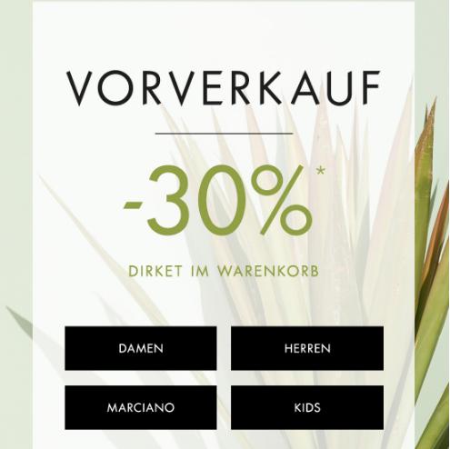 Mode für Damen und Herren Vorverkauf -30% Rabatt