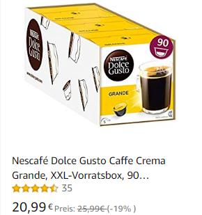 Nescafé Dolce Gusto Kapseln