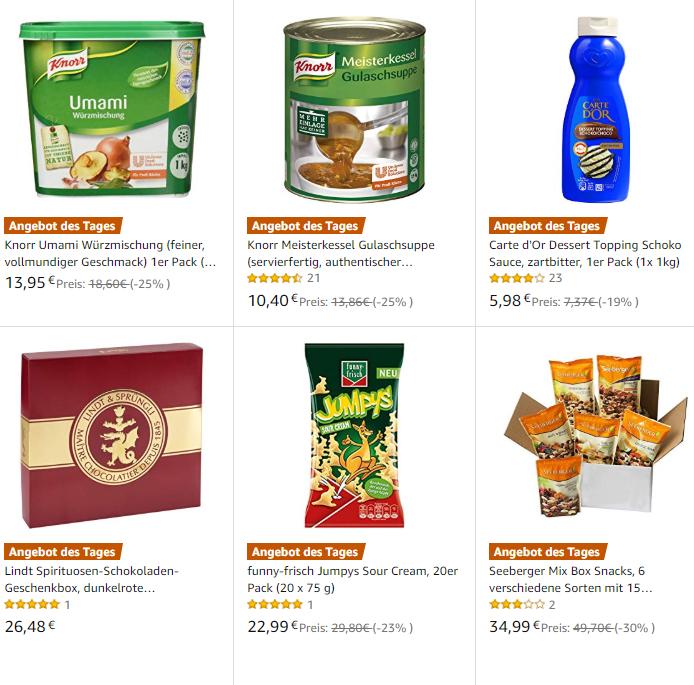 Ausgewählte Lebensmittel für Fans von Lindt, Knoppers…