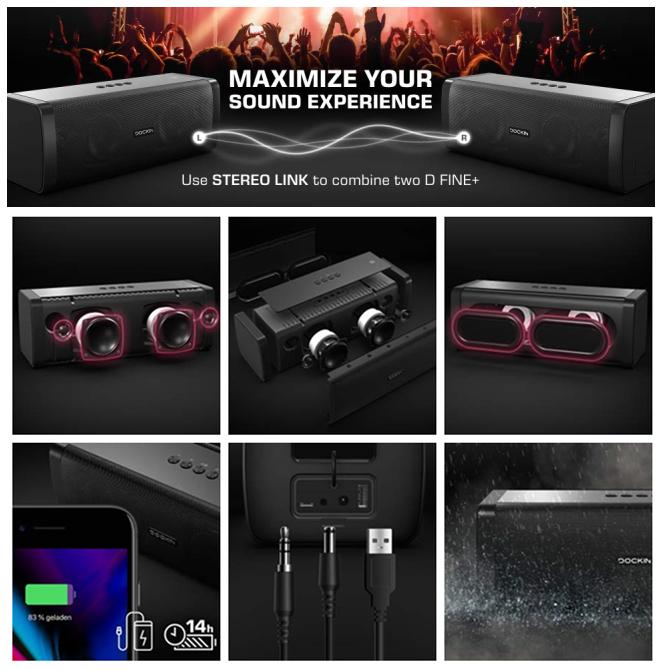 DOCKIN D FINE Cubes Stereo Bluetooth Lautsprecher Set